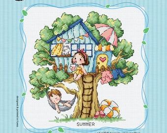 Treehouse of Summer - Soda Stitch Counted Cross Stitch Pattern