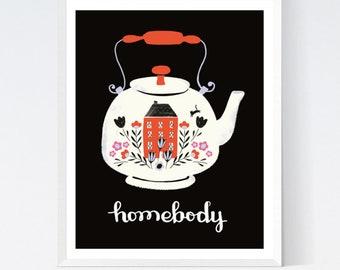 Homebody Digital Art Print by Sarah Watts