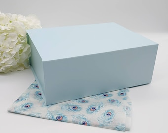 100 Turquoise 3.25x2.25x1 Matte Gift Jewelry Boxes with Cotton Fill Robins Egg Blue
