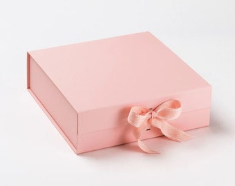 Extra Large Pink Magnetic Gift Hamper Present Box Storage Fill Birthday baby BOW