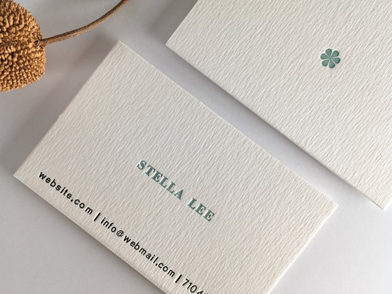 Letterpress Business Cards Biglietti Da Visita Visitenkarten Carte De Visite Sample Name Stella