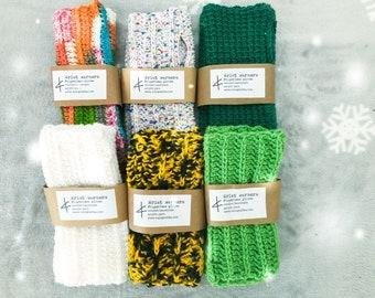 crochet FINGERLESS GLOVES, wrist warmers, hand warmers, cozy gloves