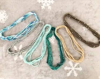 cotton crochet necklace SUNNY style unique piece
