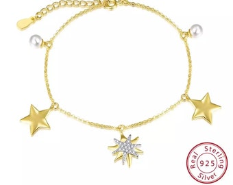 06b04de8948 Gold Starfish jewelry Sterling Silver new 18 k Saudi Gold Bracelets Design  for ladies ,women and girls