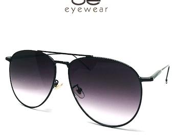 3fc6b3ccdd O2 Eyewear 97025 Premium Oversized Flat Aviator Sunglass Womens Mens