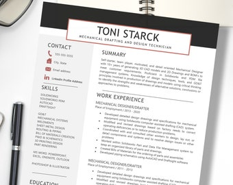2021 Professional Resume Template - Instant Download - Clean and Simple Resume