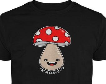 3fe30c0a80 I'm a Fun Guy Fungi Tee - Mushroom Vegan/Vegetarian Joke - Father's Day T-Shirt  Gift - Dad Joke Shirt