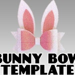 Easter Bunny Ears Hair Bow Clip Template Vector - SVG/PNG/Dxf/Jpeg/pdf  files for Cricut, Brother, Silhouette, Cameo, DIY Crafts