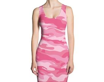 7d309426c8a Women s Camouflage Dress - Sexy Pink Camo Women s Dress - Sublimation Cut   Sew  Dress