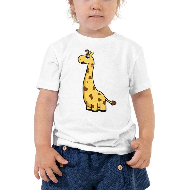 Cute Giraffe Toddler Tee  Zoo Animal Short Sleeve T-Shirt image 0
