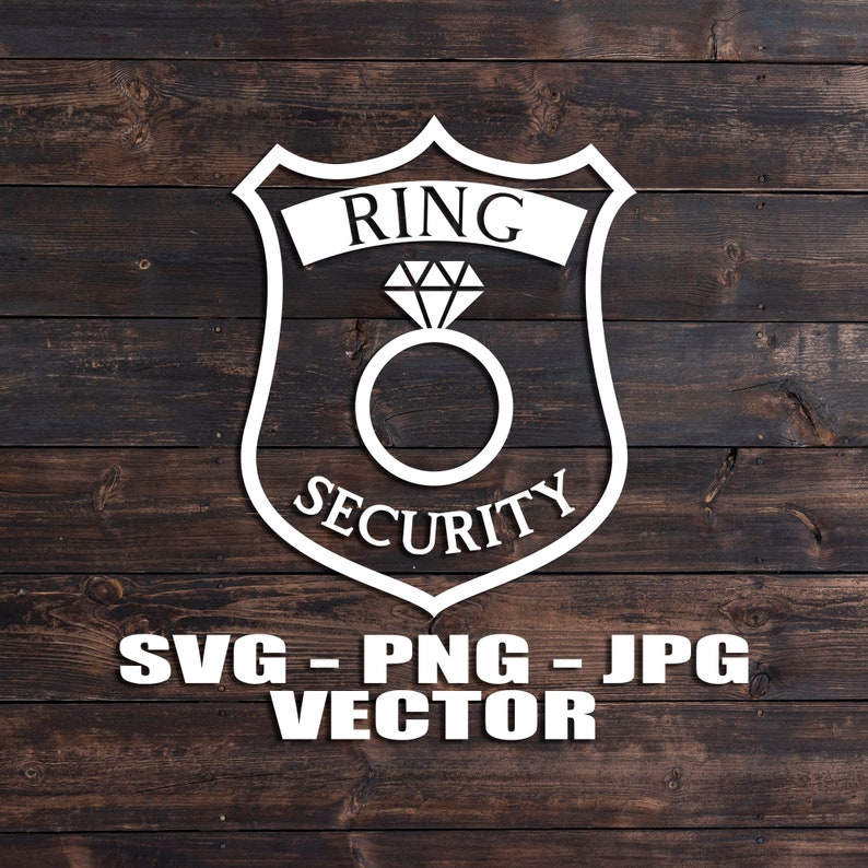Ring Security Badge Wedding Ring Bearer Vector  Template image 0