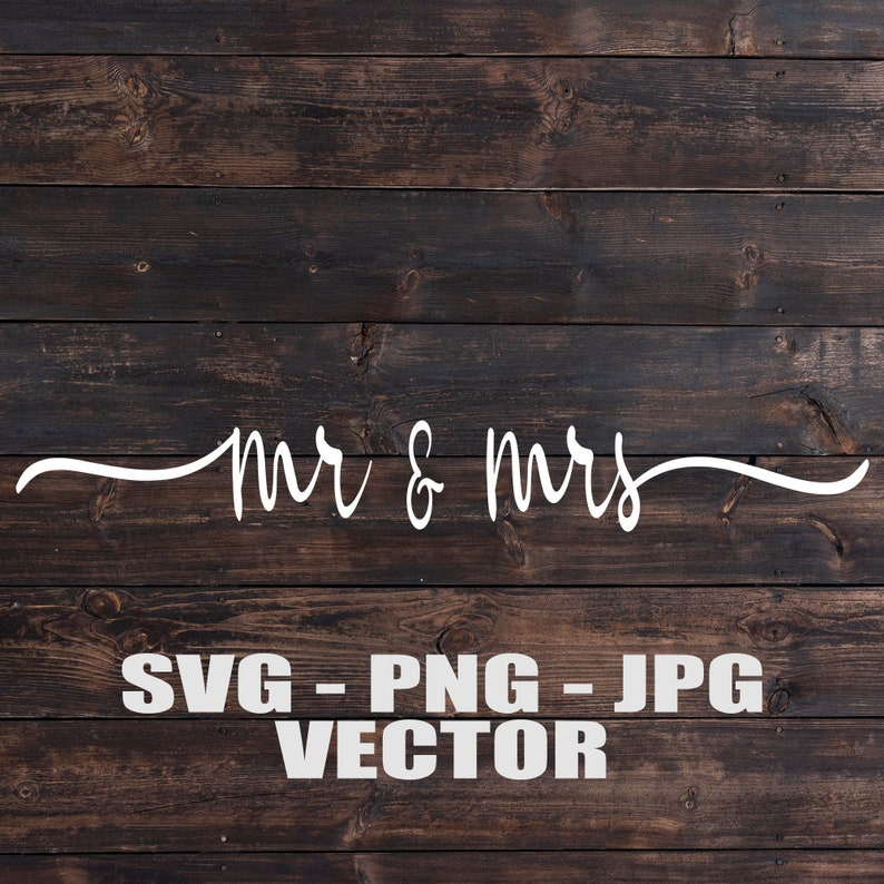 Mr. and Mrs. Bride and Groom Vectors  Template image 0