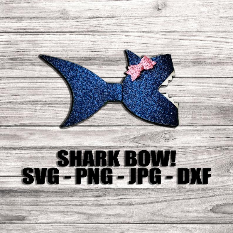 Baby Shark Hair Bow SVG  Hair Clip Template image 0