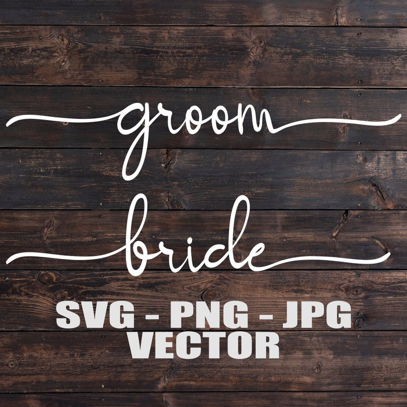 Bride and Groom Vectors  Template SVG/PNG/JPG/dxf Vector Cut image 0