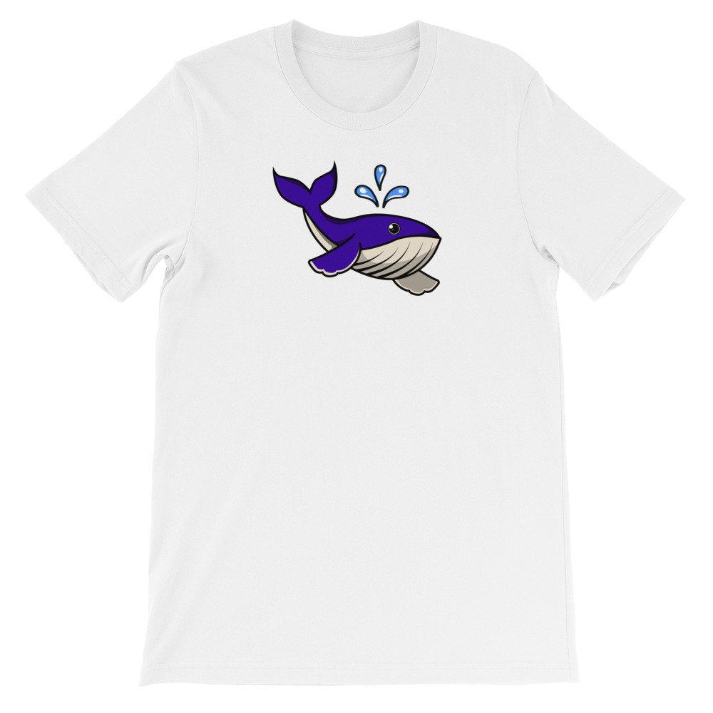 Rorqual bleu cadeau de bande dessinée Illustration Noël cadeau bleu manches courtes T-Shirt unisexe 348c62