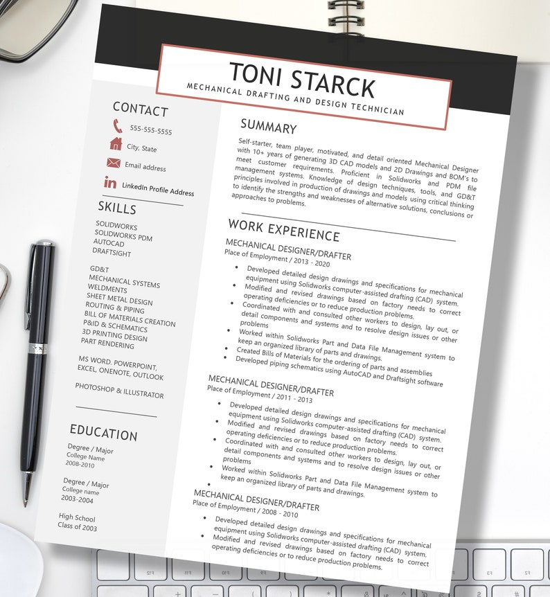 2020 Professional Resume Template  Instant Download  Clean image 0