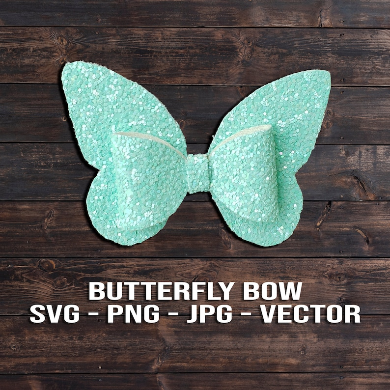 Spring Butterfly Hair Bow SVG  Hair Clip Template image 0