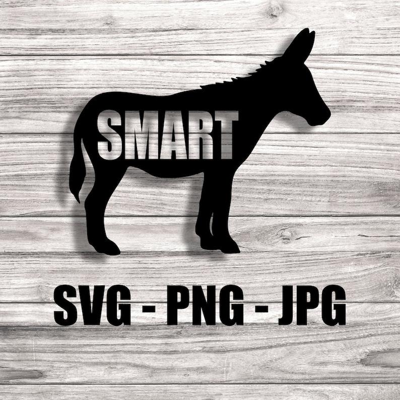 Smart Ass Donkey Animal Vector  Template SVG/PNG/JPG Vector image 0