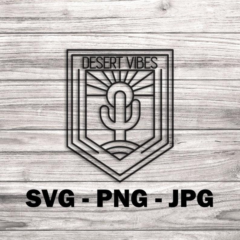 Desert Vibes Line Art Vector  Template SVG/PNG/JPG Vector image 0