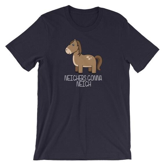 Neighers va voisins - parodie drôle cheval sur la des détracteurs allant à la sur haine - manches courtes T-Shirt unisexe 6d68a5