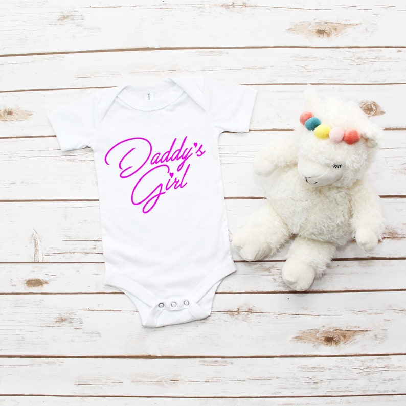 Daddy's Girl one piece pajamas White Baby pajamas Baby image 0