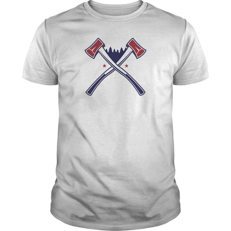 Red White & Blue USA Wilderness Axes Tee  Patriotic 4th of image 0