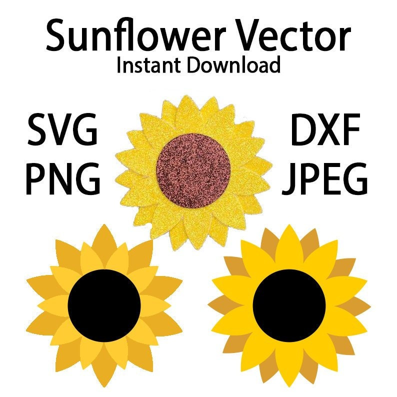 Sunflower Hair Bow Template Vector  SVG/PNG/DXF/Jpeg  files image 0