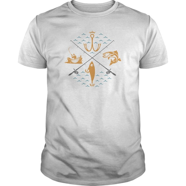Fishing Compass  Father's Day Fisherman Tee  Mens image 0
