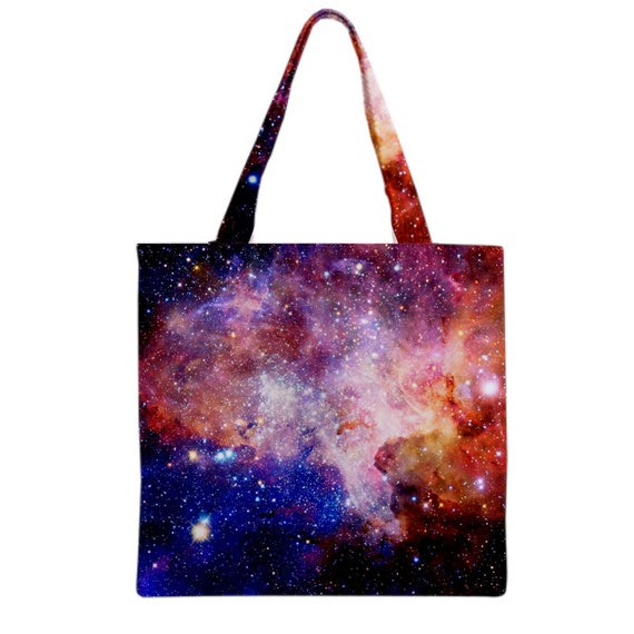 Trippy Colorful space Tote Bag