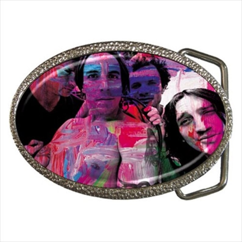 Red Hot Chili Peppers Metal with Enamel BELT BUCKLE