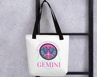 73ef2a10a75b GEMINI- Tote Bag Horoscope  Birthday Gifts Gifts for  Her April May June Grocery Store Bags Cotton Bags