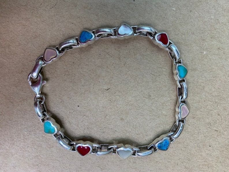 Sterling Silver and Semi-Precious Stone Bracelet