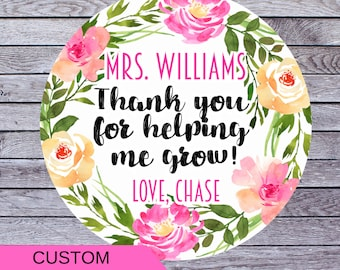 Thank You For Helping Me Grow Printable Etsy