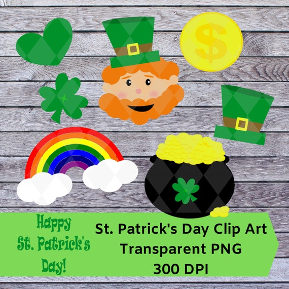 St Patrick S Day Clip Art Cute Leprechaun Pot Of Gold Lucky