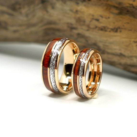 Gold Plated Tungsten Band 6mm Two Tone Ring Tungsten Band Ring Mens Ring Wedding Ring Laser Engraved Gold Tungsten Band Gold Ring Wedding