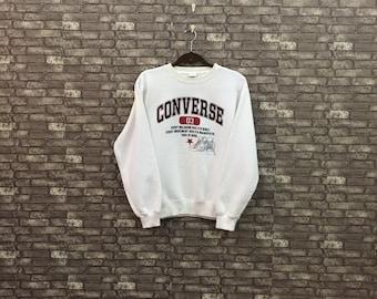 eaab62f42b90 90s CONVERSE Vintage Sweatshirt   Vintage White Converse Men Medium  Spellout Sweater