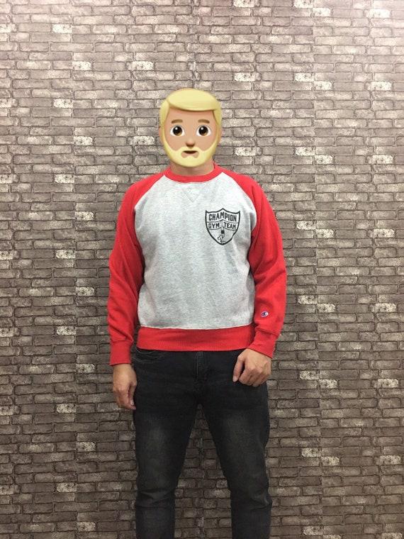 Champion Sweatshirt Grey Red Champion Sweater / Ch