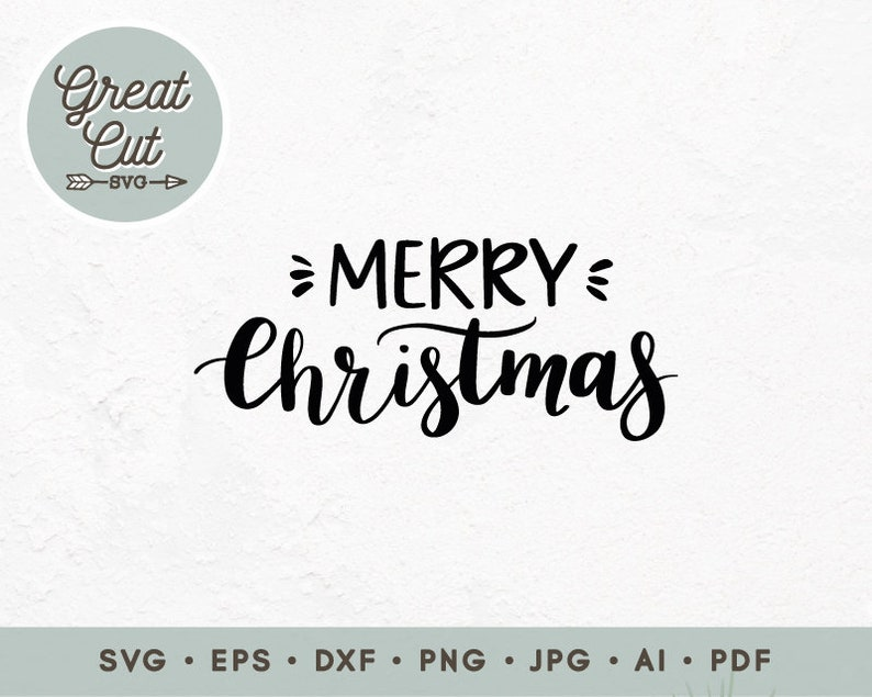 Christmas Tree Svg Commercial use Digital cut file Hand lettered Winter svg Merry Christmas svg We wish you a Merry Christmas svg