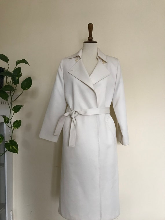 Vintage Ivory Trench Coat By London Fog by Etsy