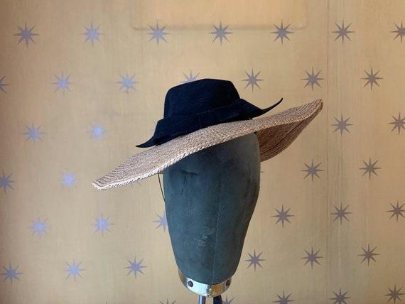 1940s Ladies Straw Hat
