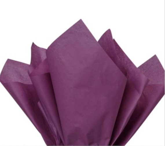 Purple Reign Solid Color Gift Wrap Tissue Paper 24 Sheets 20 BY 30