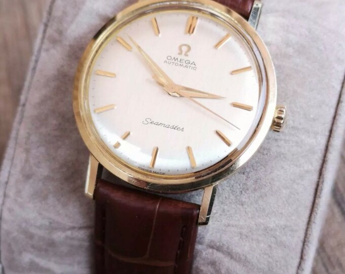 Omega Seamaster 14k Solid Gold Vintage Mens Watch, Serviced + 12 Months Warranty