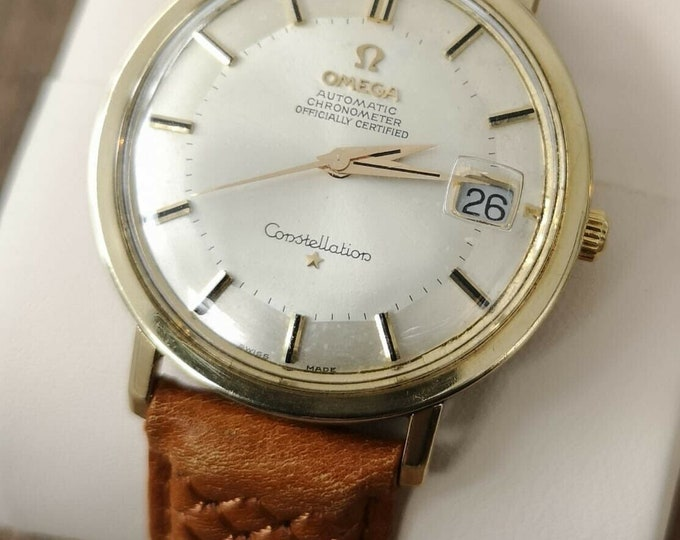 Omega Constellation Jumbo Pie Pan 14k Gold Capped Automatic 1966, Serviced + Warranty