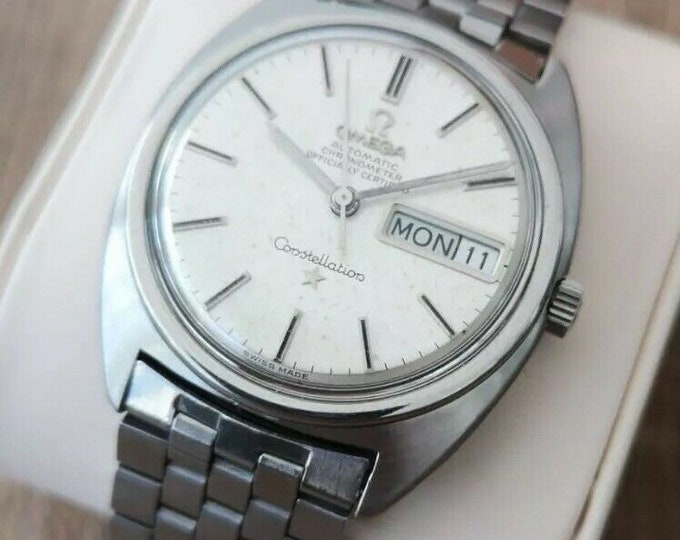 Omega Constellation Stainless Steel Vintage Mens Watch, Serviced, Warranty, 1968