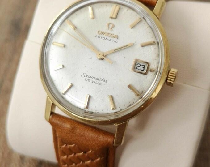 Omega Seamaster Deville 18k Gold Vintage Automatic Watch - Serviced, Warranty