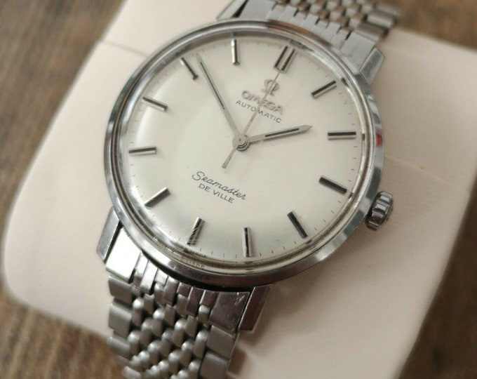 Omega Seamaster Deville Watch, Vintage Stainless Steel, Serviced + Warranty, 1966