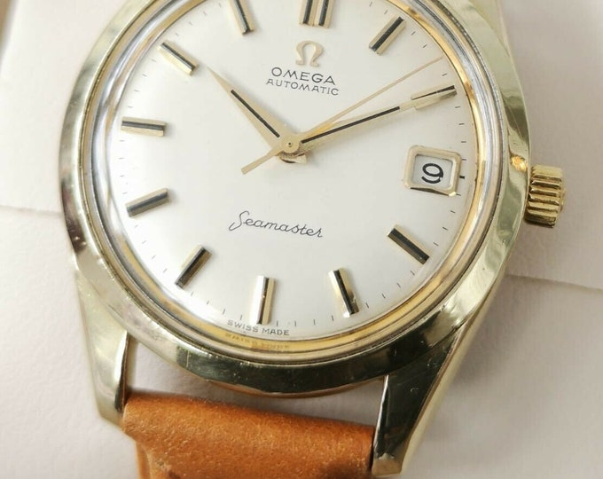 Omega Seamaster Gold Capped Vintage Watch Automatic 1961 Fully Serviced + Warranty