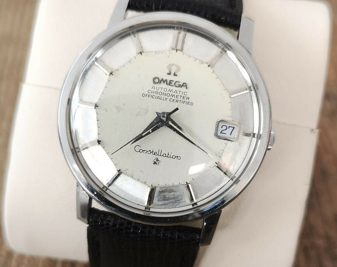 Omega Constellation Rare Pie Pan Jumbo Automatic S/S 1969 Fully Serviced + Warranty