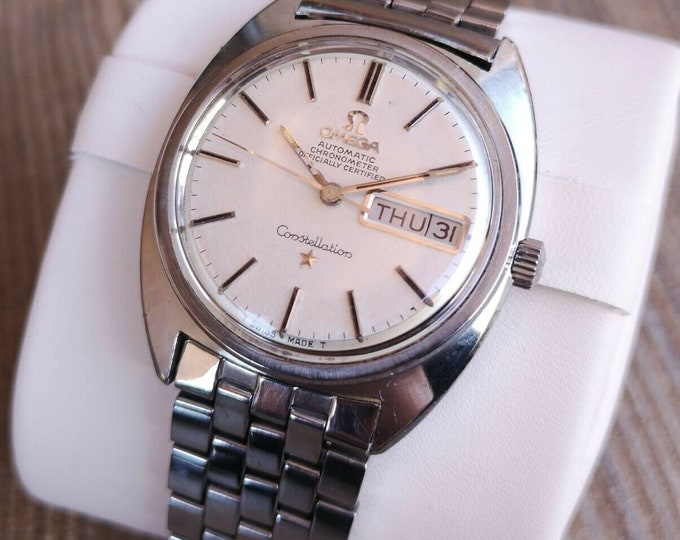 Omega Constellation vintage Mens Watch Fully Serviced Plus Warranty And Box