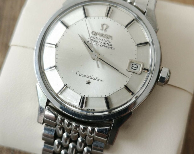 Omega Constellation Pie Pan Chronometer Vintage Watch Automatic 1963 Serviced + Warranty